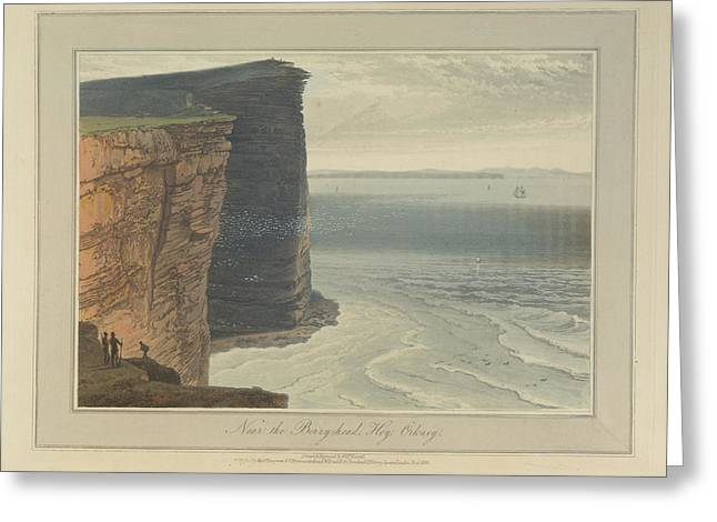 The Cliffs Near The Berryhead At Hoy Greeting Card by British Library