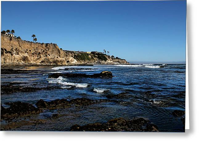 The Cliffs Of Pismo Beach Greeting Card by Judy Vincent