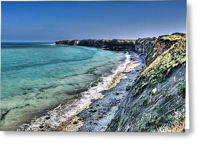 The Cliffs Of Pointe Du Hoc Greeting Card