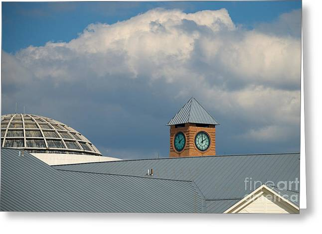 The Clock And The Dome Greeting Card by Mark Dodd