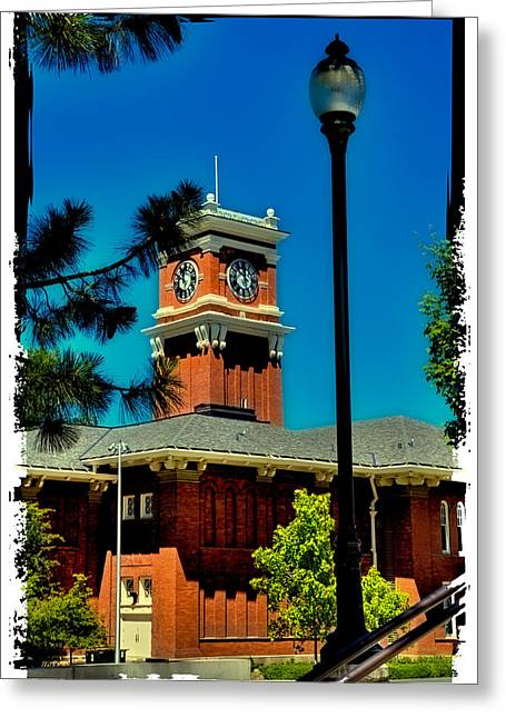 The Clock Tower At Bryan Hall - Washington State University Greeting Card