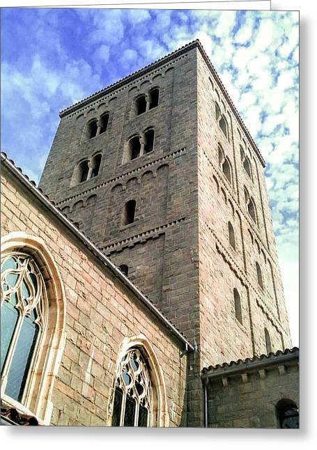 The Cloisters Greeting Card by Jon Woodhams
