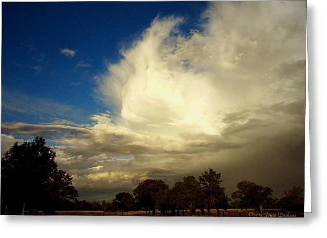 The Cloud - Horizontal Greeting Card by Joyce Dickens