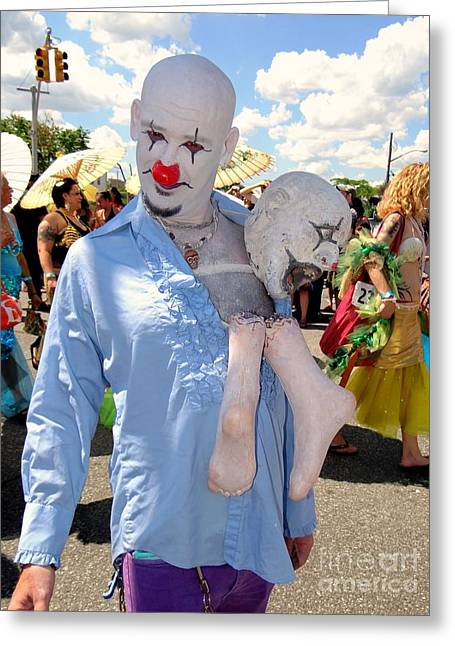 Greeting Card featuring the photograph The Clown by Ed Weidman