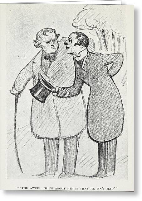 The Club Of Queer Trades Greeting Card by British Library