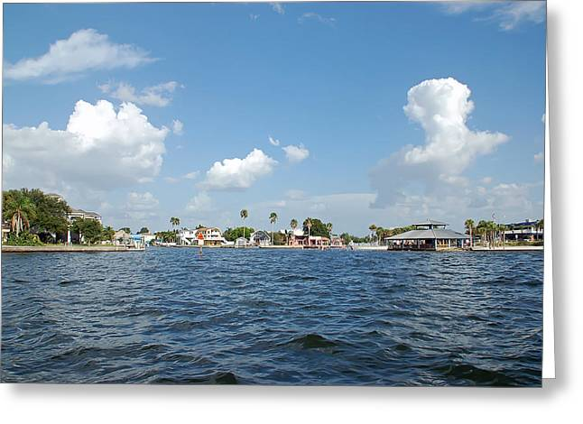 The Coast Of Hudson Beach Florida Greeting Card