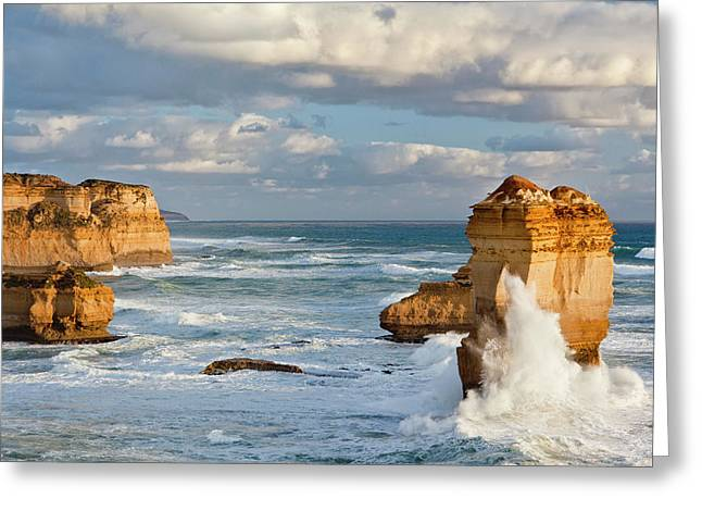 The Coastline Near Loch Ard Gorge Greeting Card