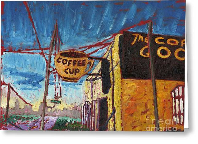 The Coffee Cup Greeting Card by Preston Sandlin