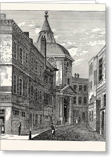 The College Of Physicians Warwick Lane 1868 London Greeting Card