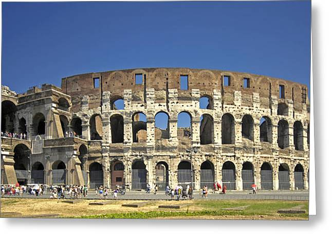 The Colloseum Greeting Card by Claudio Bacinello
