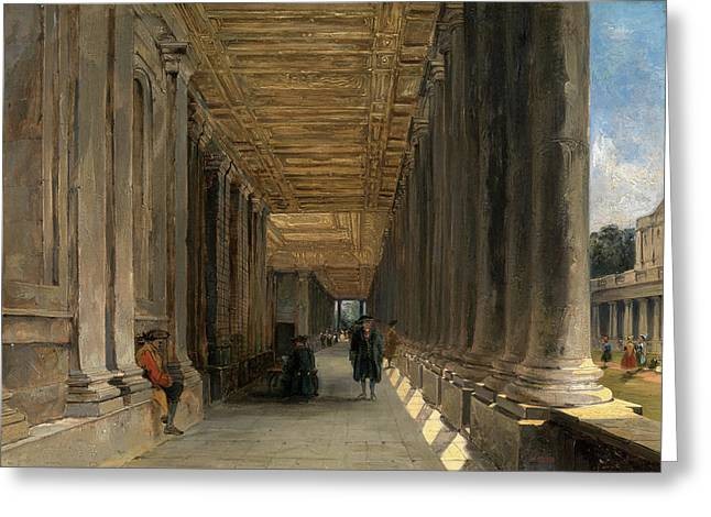 The Colonnade Of Queen Marys House, Greenwich Greeting Card by Litz Collection