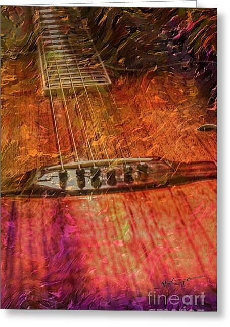 The Color Of Music Digital Guitar Art By Steven Langston Greeting Card by Steven Lebron Langston