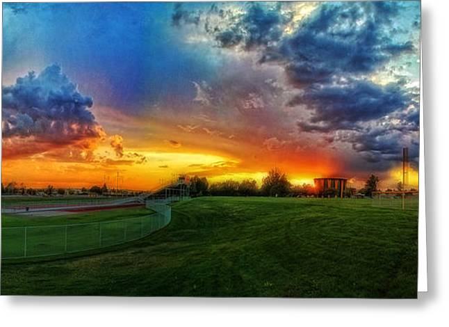The Color Of Shadle Park Greeting Card by Dan Quam