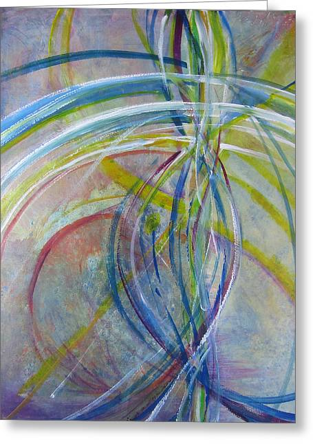 Greeting Card featuring the painting The Color Of Sound by John Fish