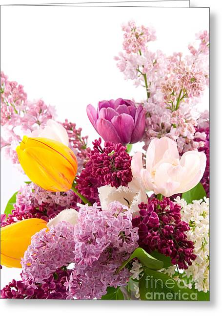 The Colorful Flower Greeting Card