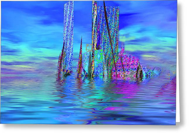 The Colors Have Went Out To Sea. Greeting Card