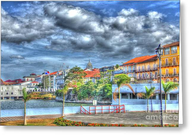 The Colors Of Casco Viejo Greeting Card by Bob Hislop