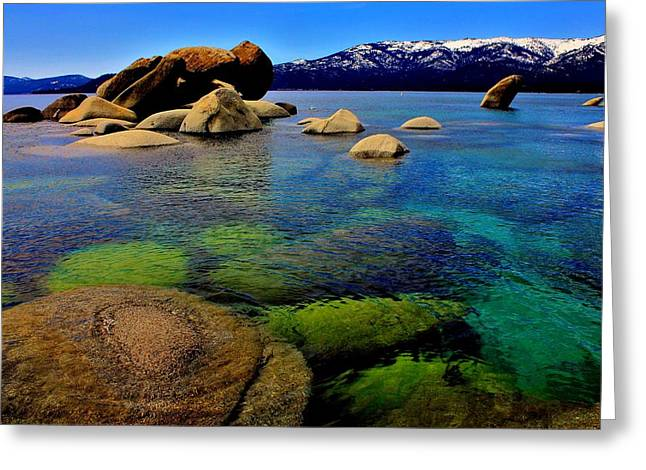 The Colors Of Lake Tahoe Greeting Card by Benjamin Yeager