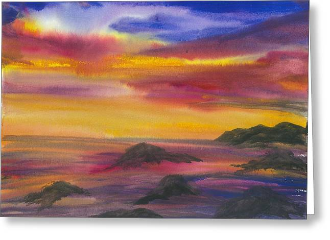 The Colors Of Life Greeting Card by Karen  Condron