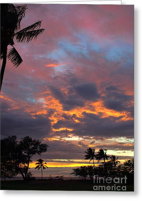 the colors of Maui Greeting Card