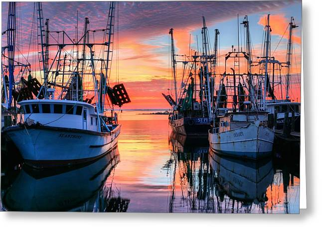 The Colors Of Pensacola Bay Greeting Card by JC Findley