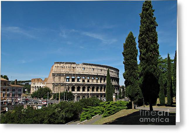 The Colosseum In Rome Greeting Card by Kiril Stanchev