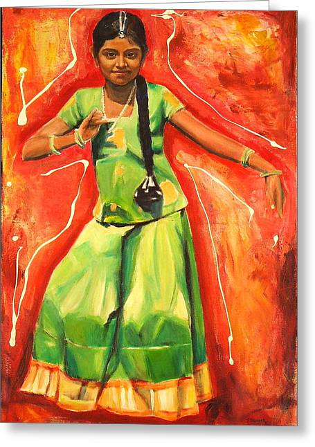 The Colours Of Dance Greeting Card by Sheila Diemert