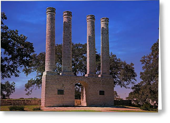 The Columns Of Old Baylor At Independence -- 2 Greeting Card by Stephen Stookey
