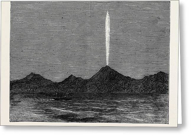 The Comet In The Southern Hemisphere As Viewed Greeting Card