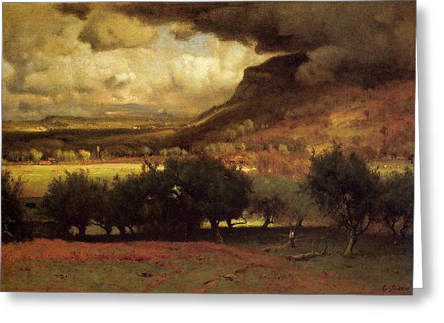 The Coming Storm Greeting Card by George Inness