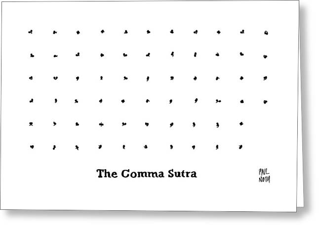 The Comma Sutra. Images Of Commas In Different Greeting Card