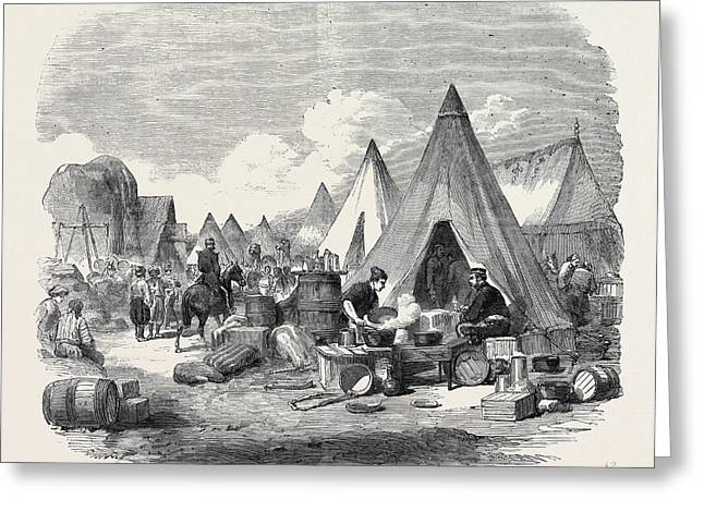 The Commissariat Camp In The Crimea Greeting Card by English School