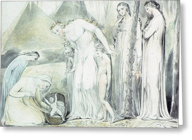The Compassion Of Pharaohs Daughter Or The Finding Of Moses Greeting Card by William Blake
