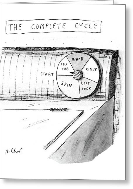 The Complete Cycle Greeting Card by Roz Chast