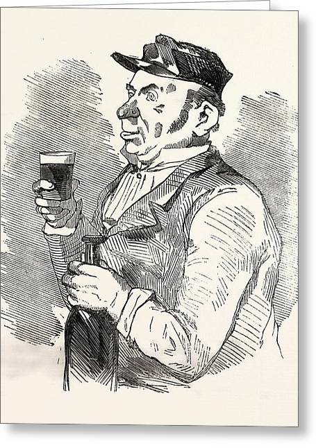 The Concierge Of The Roche-noire Castle Drinking Greeting Card by French School