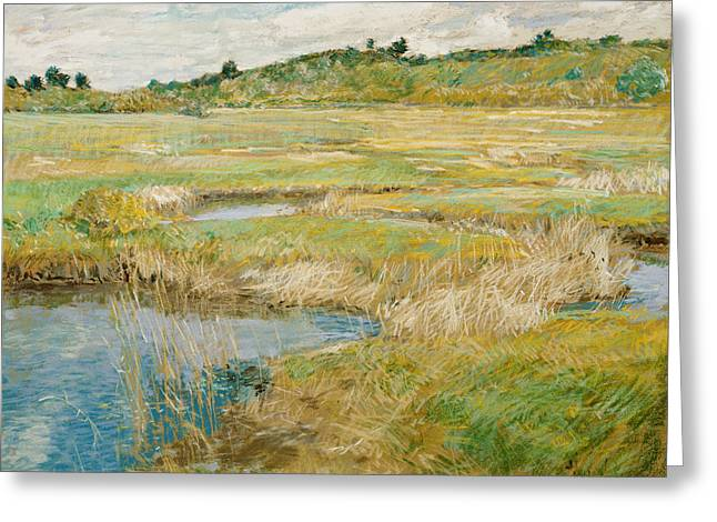 The Concord Meadow Greeting Card by Childe Hassam