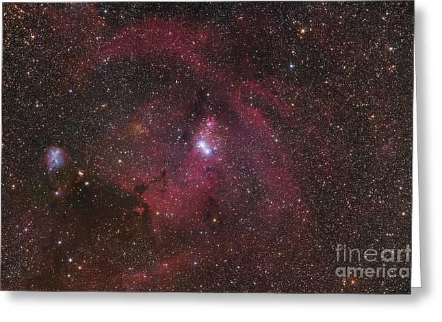 The Cone Nebula Region In Monoceros Greeting Card