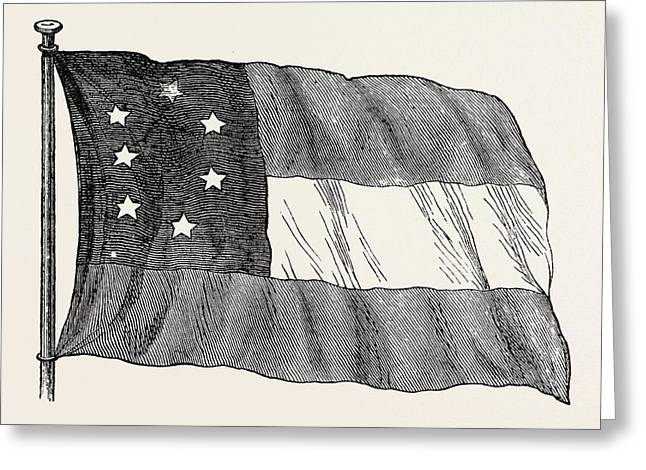 The Confederate Flag, United States Of America Greeting Card by American School