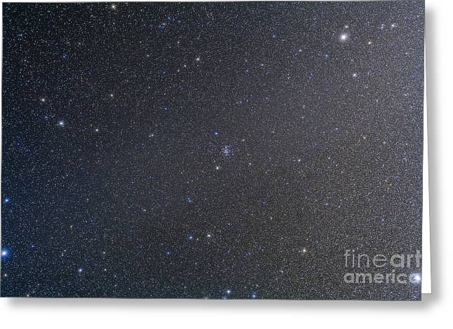 The Constellation Of Cancer With Nearby Greeting Card by Alan Dyer