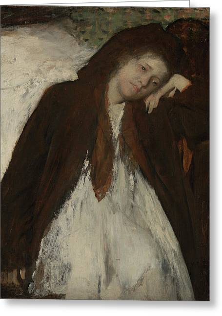 The Convalescent Edgar Degas, French Greeting Card