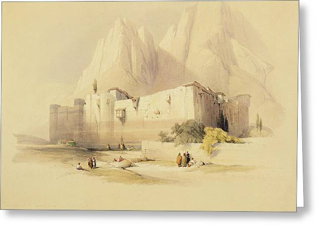 The Convent Of St. Catherine Greeting Card by David Roberts