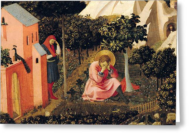 The Conversion Of Saint Augustine Greeting Card by Fra Angelico