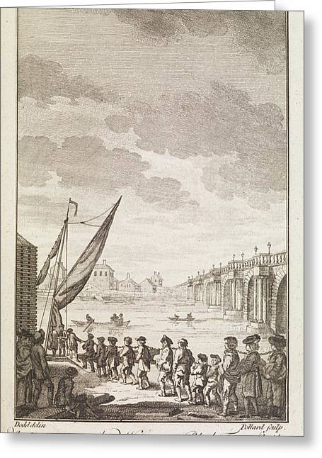 The Convicts ... Near Blackfrairs Bridge Greeting Card by British Library
