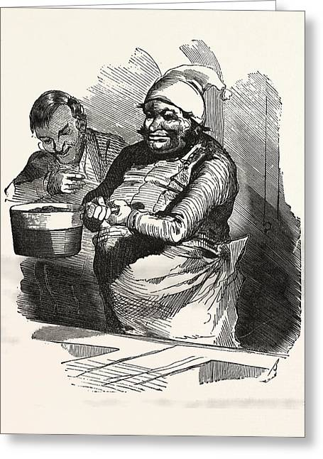 The Cook And His Pan, Europe Greeting Card by French School