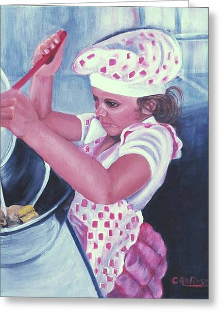 The Cook Greeting Card by Carol Allen Anfinsen
