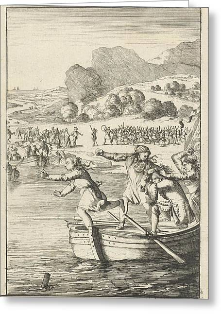 The Cook Of Marie-catherine Daulnoy Arguing On A Rowing Greeting Card