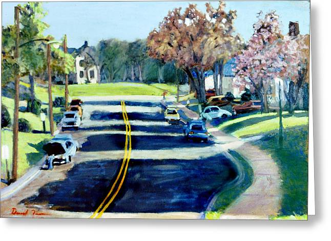 The Corner Of Woodrow And Wilson Greeting Card by David Zimmerman