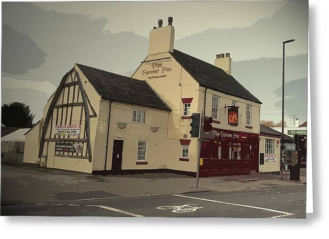 The Corner Pin Public House In, The Gable-end Visible Here Greeting Card by Litz Collection