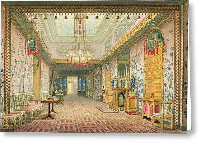 The Corridor Or Long Gallery Greeting Card by English School