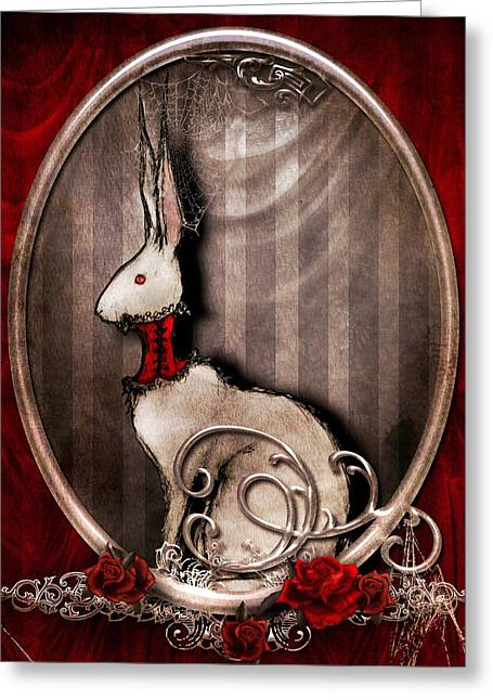 The Corset Greeting Card by Penny Collins